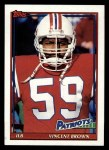 1991 Topps #620  Vincent Brown  Front Thumbnail