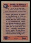 1991 Topps #454  James Campen  Back Thumbnail