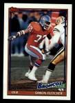 1991 Topps #549  Simon Fletcher  Front Thumbnail