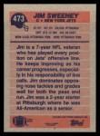 1991 Topps #473  Jim Sweeney  Back Thumbnail