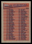 1991 Topps #656   Checklist 1-132 Back Thumbnail