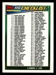 1991 Topps #656   Checklist 1-132 Front Thumbnail