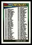 1991 Topps #660   Checklist 529-660 Front Thumbnail