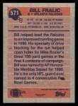 1991 Topps #571  Bill Fralic  Back Thumbnail