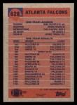 1991 Topps #628   Falcons Leaders Back Thumbnail