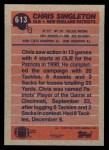 1991 Topps #613  Chris Singleton  Back Thumbnail