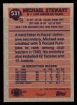 1991 Topps #531  Michael Stewart  Back Thumbnail
