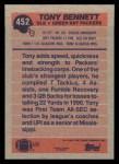 1991 Topps #452  Tony Bennett  Back Thumbnail