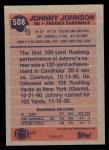 1991 Topps #508  Johnny Johnson  Back Thumbnail