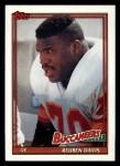 1991 Topps #497  Reuben Davis  Front Thumbnail