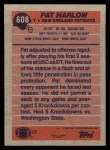 1991 Topps #608  Pat Harlow  Back Thumbnail