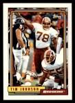 1992 Topps #74  Tim Johnson  Front Thumbnail