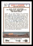 1992 Topps #97  Ken Lanier  Back Thumbnail