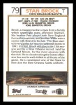 1992 Topps #79  Stan Brock  Back Thumbnail