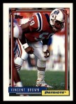 1992 Topps #142  Vincent Brown  Front Thumbnail