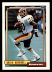 1992 Topps #52  Brian Mitchell  Front Thumbnail