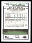 1992 Topps #118  Dwayne Harper  Back Thumbnail