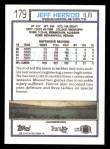1992 Topps #179  Jeff Herrod  Back Thumbnail