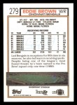 1992 Topps #279  Eddie Brown  Back Thumbnail