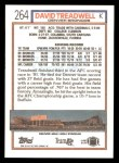 1992 Topps #264  David Treadwell  Back Thumbnail