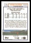 1992 Topps #226  John Roper  Back Thumbnail