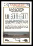 1992 Topps #223  Cleveland Gary  Back Thumbnail