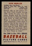 1951 Bowman #268  Don Mueller  Back Thumbnail