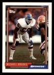 1992 Topps #318  Michael Brooks  Front Thumbnail