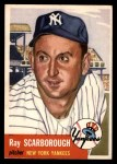 1953 Topps #213  Ray Scarborough  Front Thumbnail