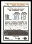 1992 Topps #523  Dexter McNabb  Back Thumbnail