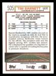 1992 Topps #505  Tim Barnett  Back Thumbnail