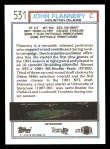 1992 Topps #531  John Flannery  Back Thumbnail