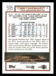 1992 Topps #595  Tommy Barnhardt  Back Thumbnail