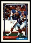 1992 Topps #524  Frank Reich  Front Thumbnail