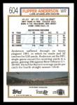 1992 Topps #604  Flipper Anderson  Back Thumbnail
