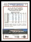 1992 Topps #488  Leonard Marshall  Back Thumbnail