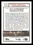 1992 Topps #532  Steve Wright  Back Thumbnail