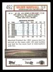 1992 Topps #492  Wilber Marshall  Back Thumbnail