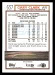 1992 Topps #637  Gary Clark  Back Thumbnail