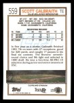 1992 Topps #559  Scott Galbraith  Back Thumbnail