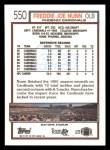 1992 Topps #550  Freddie Joe Nunn  Back Thumbnail