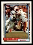 1992 Topps #599  Sean Jones  Front Thumbnail