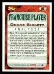 1993 Topps #83  Duane Bickett  Back Thumbnail