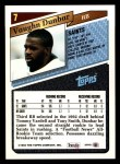 1993 Topps #7  Vaughn Dunbar  Back Thumbnail