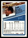 1993 Topps #146  Chris Spielman  Back Thumbnail