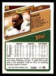 1993 Topps #20  Heath Sherman  Back Thumbnail