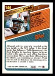 1993 Topps #144  Richmond Webb  Back Thumbnail