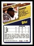 1993 Topps #116  Derrick Walker  Back Thumbnail