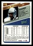 1993 Topps #110  John L. Williams  Back Thumbnail