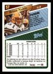 1993 Topps #57  Brian Noble  Back Thumbnail